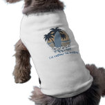 I'd rather be surfing pet tee shirt