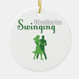 I'd Rather Be Swinging Christmas Ornament
