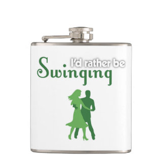 I'd Rather Be Swinging Hip Flask