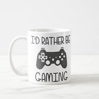 I'd Rather Be Video Gaming Basic White Mug