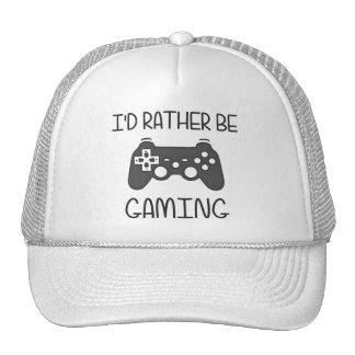 I'd Rather Be Video Gaming Trucker Hat