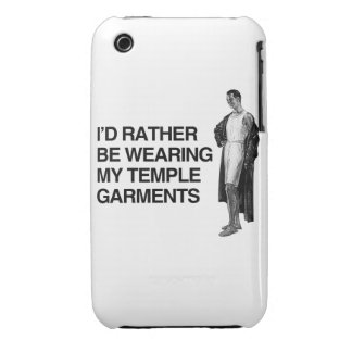 I'D RATHER BE WEARING MY TEMPLE UNDERGARMENTS Case-Mate iPhone 3 CASE