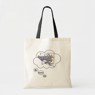 i'd rather be Writing Music 2 Budget Tote Bag