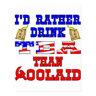 I'd Rather Drink Tea Than %OolAid Postcard