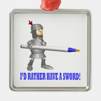 Id Rather Have A Sword Christmas Tree Ornament