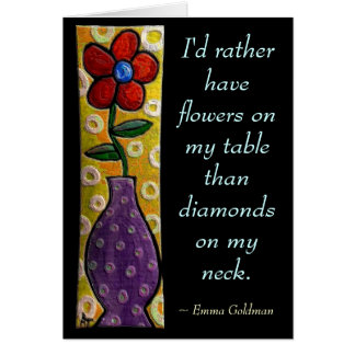 I'd rather have flowers... - Red Flower card