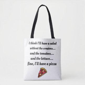 I'd rather have pizza tote bag