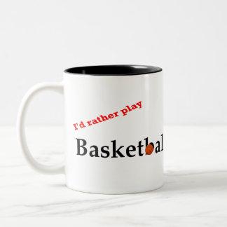 I'd Rather Play Basketball Mug