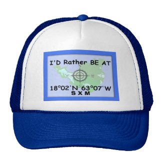 I'd Rither Be At 18.02'N 63.07'W Cap
