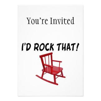 I'd Rock That Rocking Chair Custom Announcements