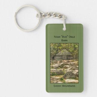 "ID:  Smokies  Noah ""Bud"" Ogle Barn Photography Key Ring"