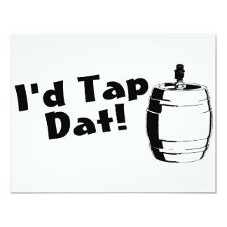 Id Tap Dat Beer Keg 11 Cm X 14 Cm Invitation Card