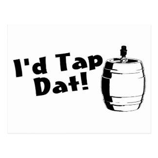 Id Tap Dat Beer Keg Post Cards