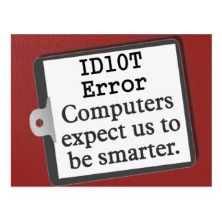ID Ten T Error Postcard