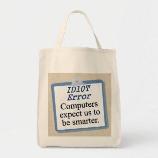 ID Ten T Error Canvas Bags