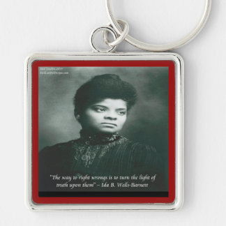 Ida B Wells & Truth Quote Keychain