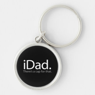 iDad Silver-Colored Round Key Ring