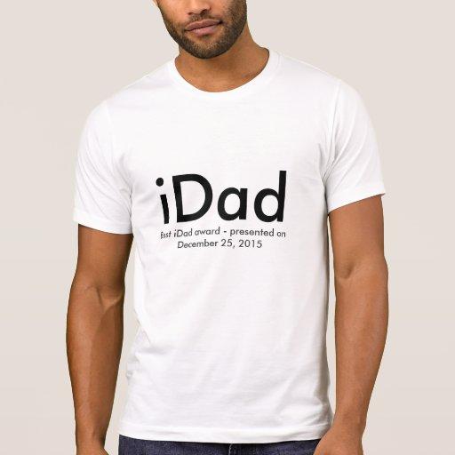 iDad T-Shirt - Best iDad award presented on