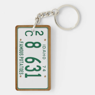 Idaho 1974 Vintage License Plate Keychain