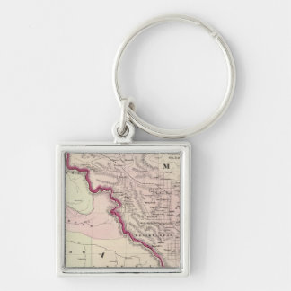Idaho 5 Silver-Colored square key ring