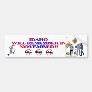 Idaho - Anti ObamaCare, New Taxes & Spending Bumper Sticker