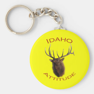 Idaho Attitude Basic Round Button Key Ring