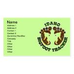 Idaho Bigfoot Tracker Business Cards