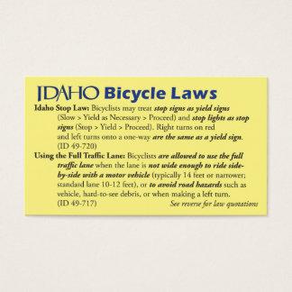 Idaho Bike Law Business Card
