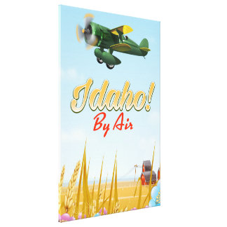 Idaho! By air Canvas Print