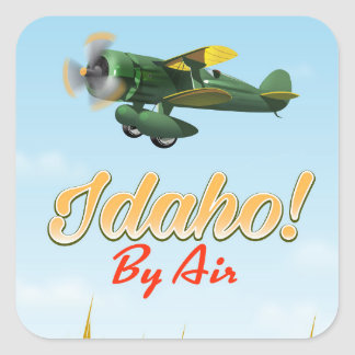 Idaho! By air Square Sticker