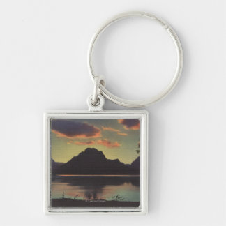 Idaho - Dusk View of Mt. Moran & Jackson Lake Silver-Colored Square Key Ring