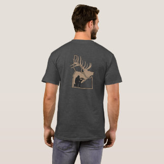 Idaho-Elk with Hunter Silhouette T-Shirt