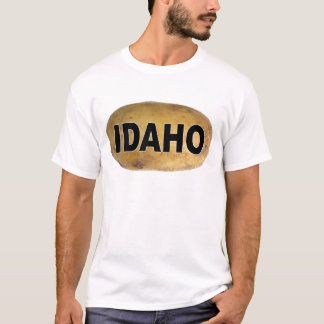 Idaho Euro Style Oval Car Decal Potatoes T-Shirt