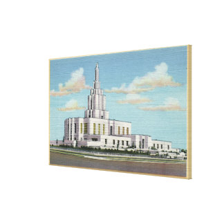 Idaho Falls, ID - Mormon Temple View Canvas Print
