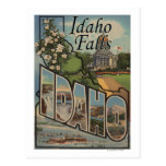 Idaho Falls, Idaho - Large Letter Scenes Postcard