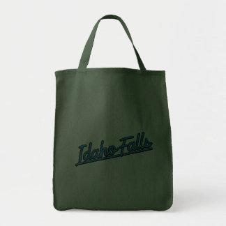 Idaho Falls in cyan Tote Bag