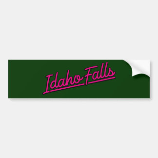 Idaho Falls in magenta Bumper Sticker