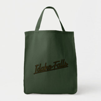 Idaho Falls in orange Canvas Bags
