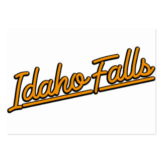 Idaho Falls in orange Business Cards