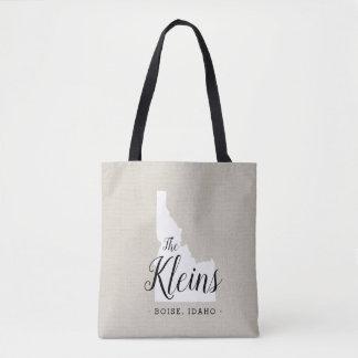 Idaho Family Monogram State Tote Bag