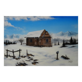 Idaho farm house Oil Painting by David Paul Posters