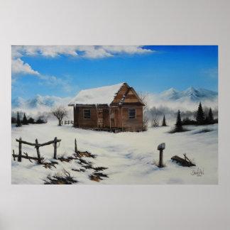 Idaho farm house Oil Painting by David Paul Poster