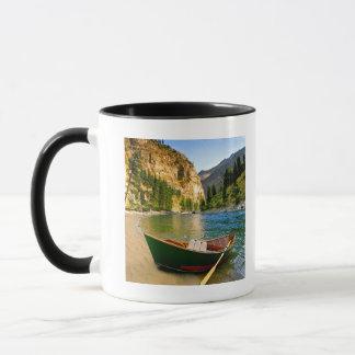IDAHO, Fishing boat on a sandy beach in the Mug