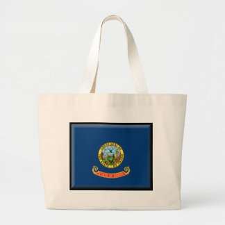 Idaho Flag Tote Bags
