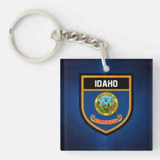 Idaho Flag Key Ring