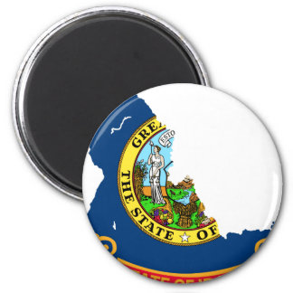 Idaho Flag Map 6 Cm Round Magnet