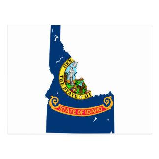 Idaho Flag Map Postcard