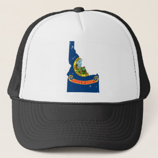 Idaho Flag Map Trucker Hat