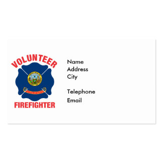 Idaho Flag Volunteer Firefighter Cross Pack Of Standard Business Cards