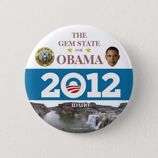 IDAHO for Obama 2012 political pinback button